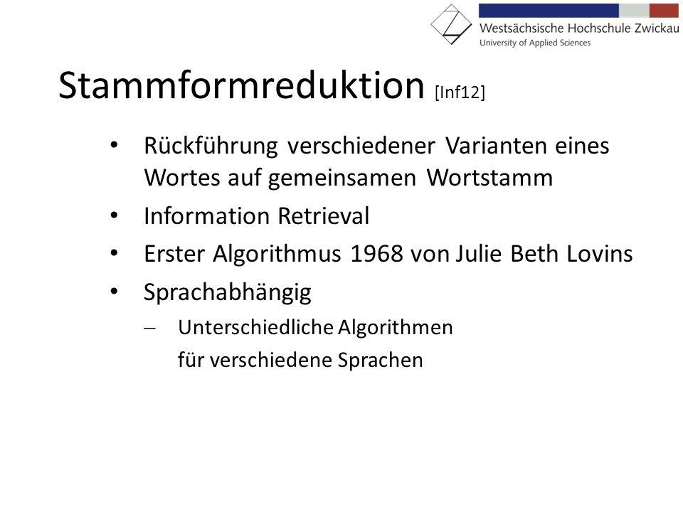 Stammformreduktion [Inf12]